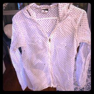 Nike running rain coat, polka dots